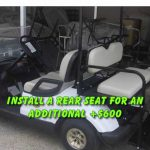 Install a rear seat