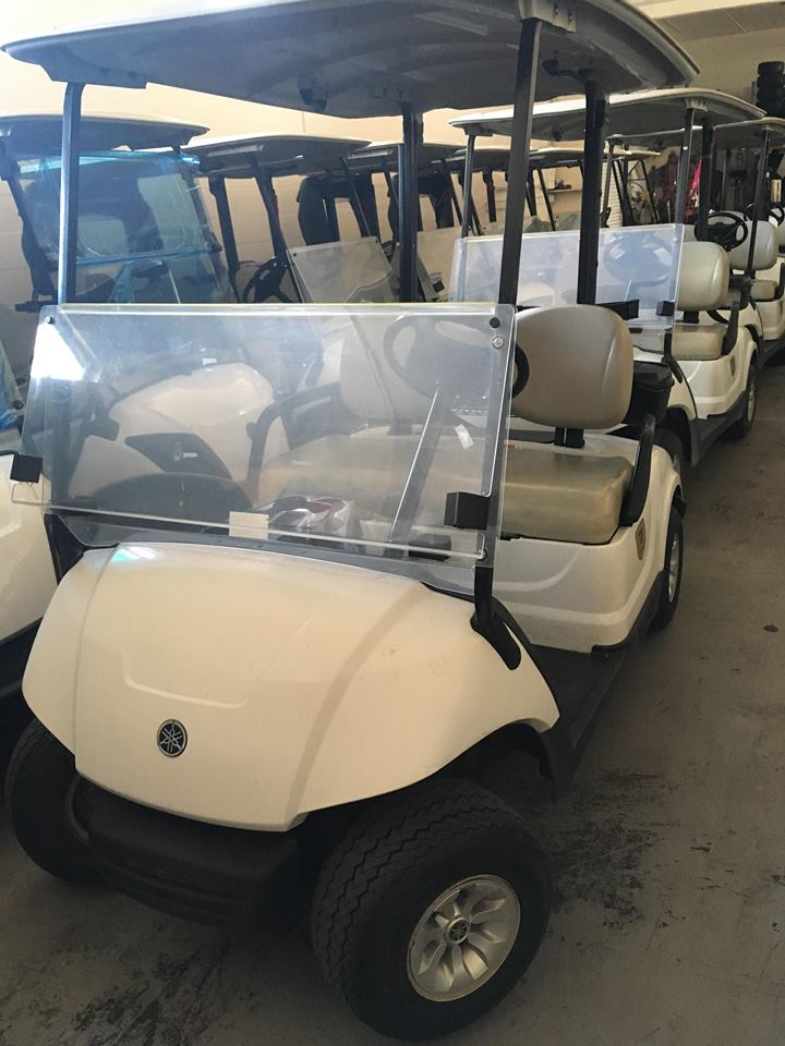 2014 Gas Yamaha White Golf Cart for Sale